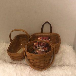 Longaberger Classic Baskets Set of 3